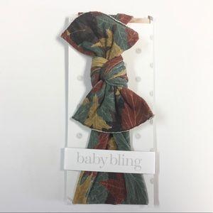 NWT Baby Bling Fall Leaves Headband